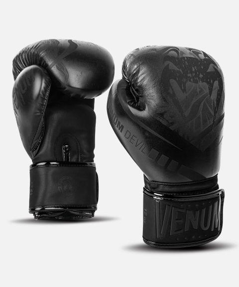 Venum Devil 拳击手套 - 黑/黑