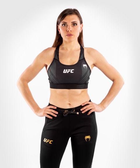 UFC VENUM AUTHENTIC搏击之夜女士运动文胸 - 黑色的