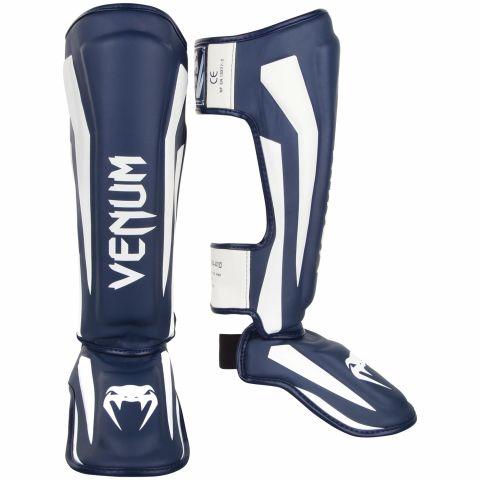 Venum Elite 站式护腿 - 白/海军蓝