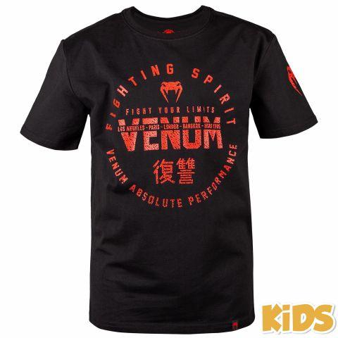 Venum Signature 儿童T恤 - 黑/红