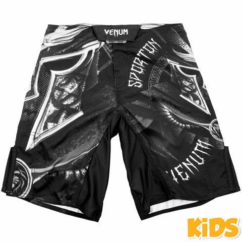 Venum Gladiator 儿童搏击短裤 - 黑/白