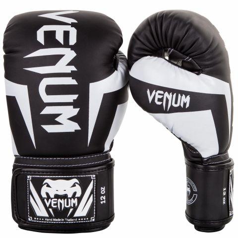 Venum Elite 拳击手套 - 黑/白