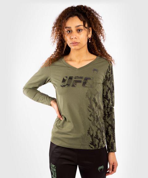 UFC VENUM AUTHENTIC格斗周女士长袖T恤 - 卡其色