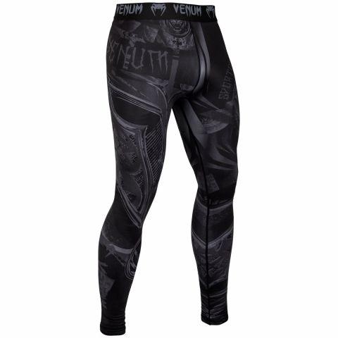 Venum Gladiator 3.0 防磨紧身裤 - 黑/黑
