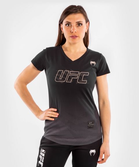 UFC VENUM AUTHENTIC格斗周女士短袖T恤 - 黑色的