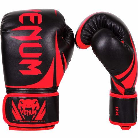 Venum Challenger 2.0 拳击手套 - 黑/红 - 专属