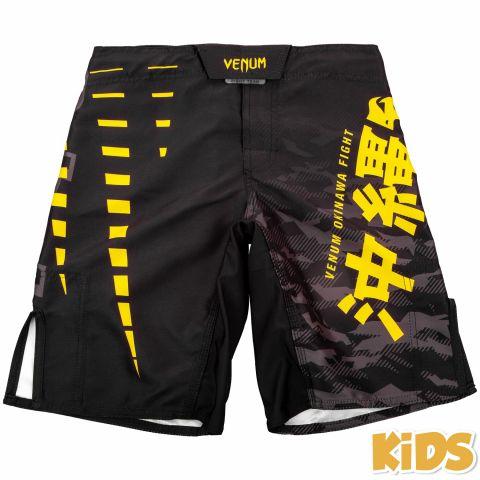 Venum Okinawa 2.0 儿童搏击短裤 - 黑/黄 -专属