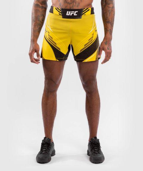 UFC VENUM AUTHENTIC搏击之夜男装短裤-合身剪裁 - 黄色的