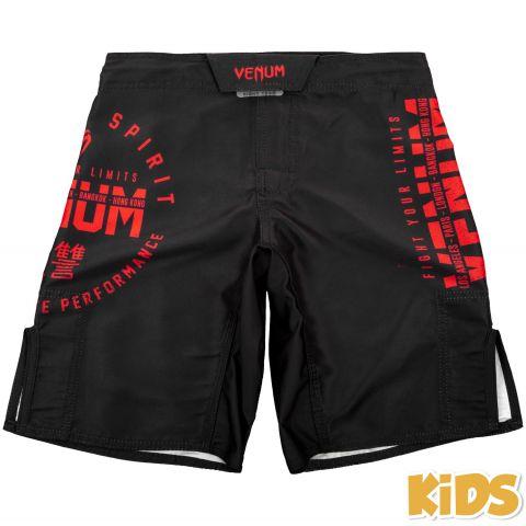 Venum Signature 儿童搏击短裤 -黑/红