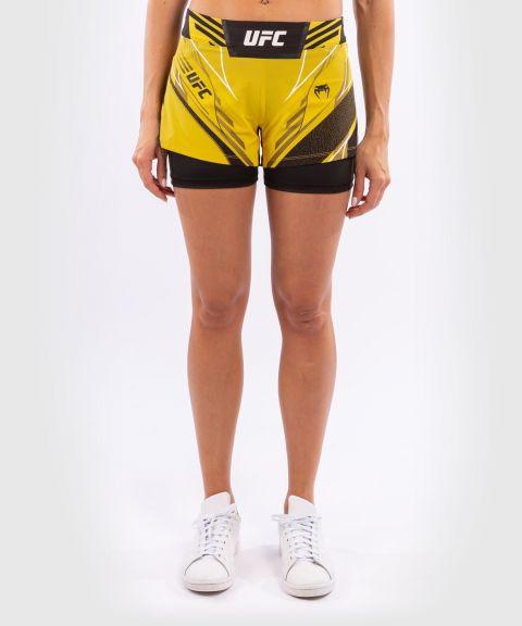 UFC VENUM AUTHENTIC战斗之夜女士短裤-合身剪裁 - 黄色的