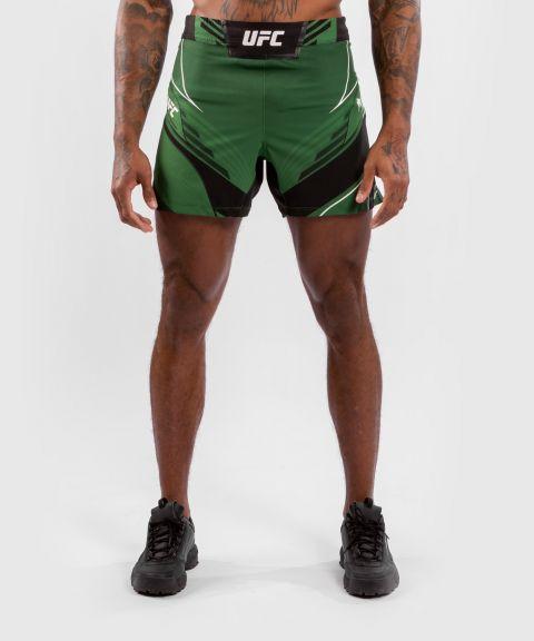 UFC VENUM AUTHENTIC搏击之夜男装短裤-合身剪裁 - 绿色