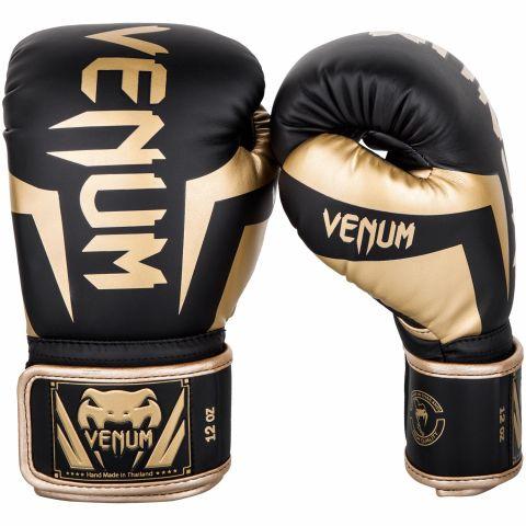 Venum Elite 拳击手套 - 黑/金