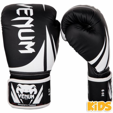 Venum Challenger 2.0 儿童拳击手套 - 黑/白