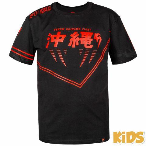 Venum Okinawa 2.0 儿童T恤 - 黑/红