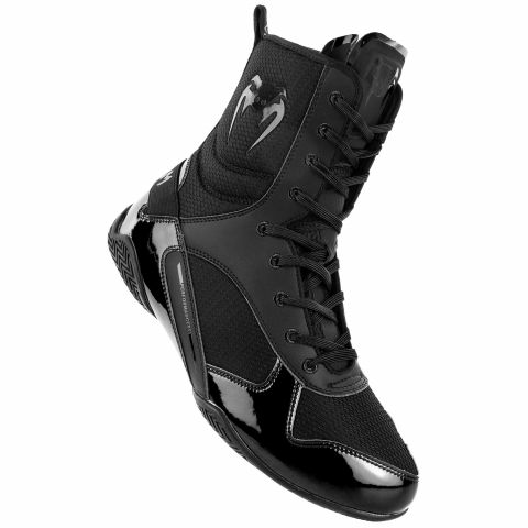 Venum Elite 拳击鞋 - 黑/黑