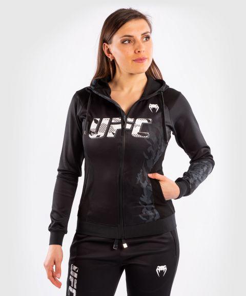 UFC VENUM AUTHENTIC UFC格斗周女装拉链连帽卫衣 - 黑色的