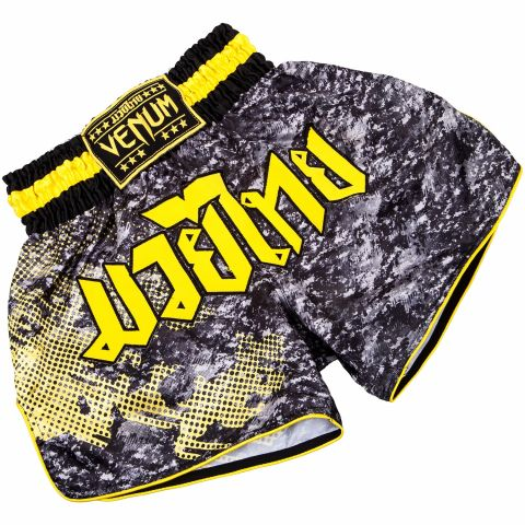Venum Tramo泰拳短裤-黑色/黄色