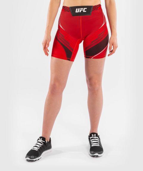 UFC VENUM AUTHENTIC搏击之夜女士VALE TUDO压力短裤-长款 - 红色的