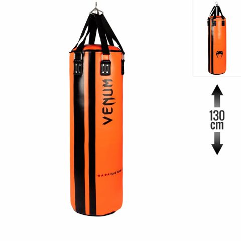 Venum Hurricane Punching Bag - Filled - 130 cm - Black/Orange