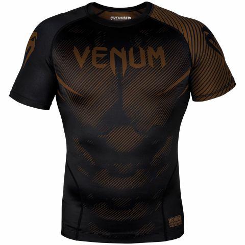 Venum NoGi 2.0 防磨衣 - 短袖 - 黑/棕