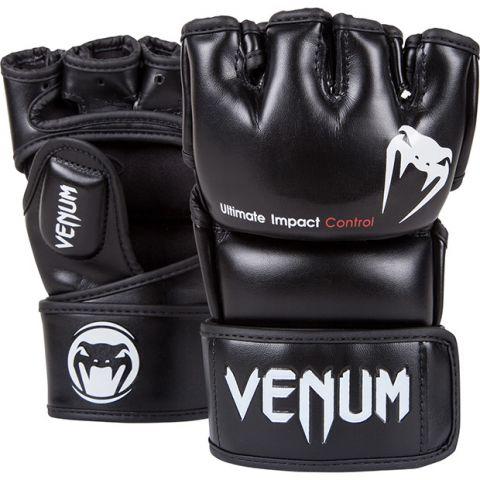 Venum Impact 综合格斗手套-Skintex皮革-黑色