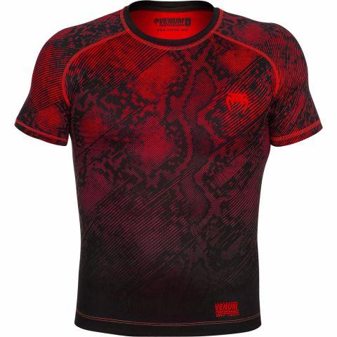 Venum Fusion压缩T恤-短袖-黑色/红色