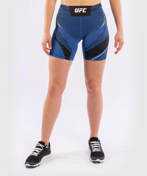 UFC VENUM AUTHENTIC搏击之夜女士VALE TUDO压力短裤-长款 - 蓝色