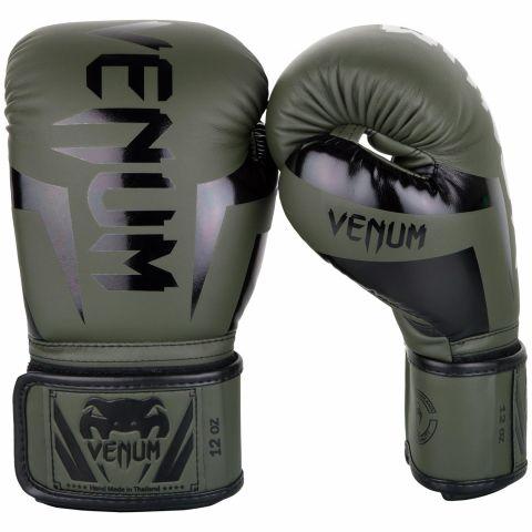 Venum Elite 拳击手套 - 卡其/黑