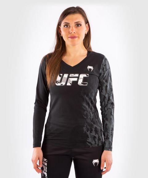 UFC VENUM AUTHENTIC格斗周女士长袖T恤 - 黑色的