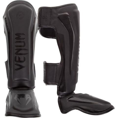 Venum Elite 站式护腿 - 哑光黑