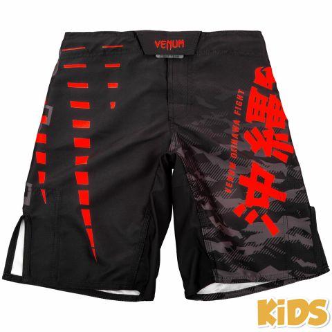 Venum Okinawa 2.0 儿童搏击短裤 - 黑/红