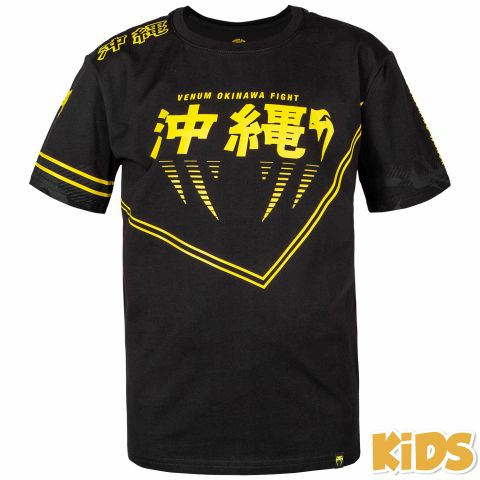 Venum Okinawa 2.0 儿童T恤 - 黑/黄 -专属