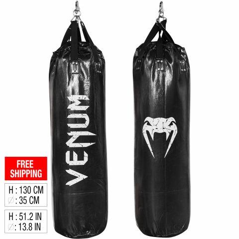 Venum Challenger 沙袋 - 黑 - 130厘米 - 未填充