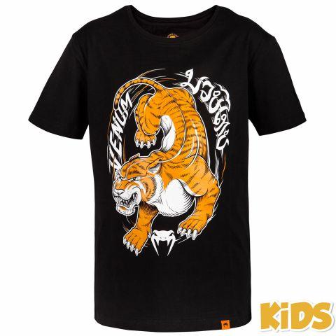 Venum Tiger King 儿童T恤 - 黑