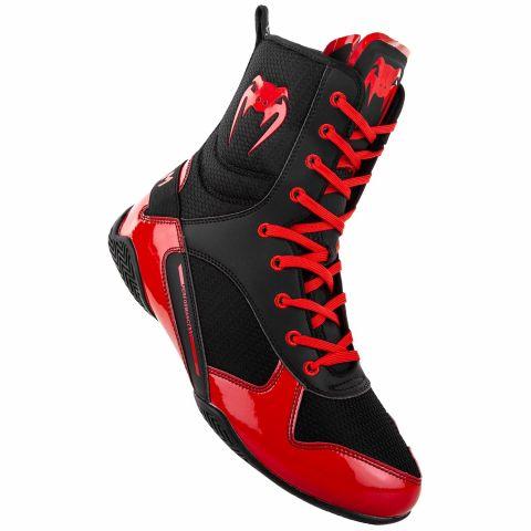 Venum Elite 拳击鞋 - 黑/红