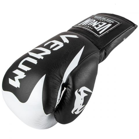 Venum Hammer Pro Boxing Gloves - With Laces - Black/White