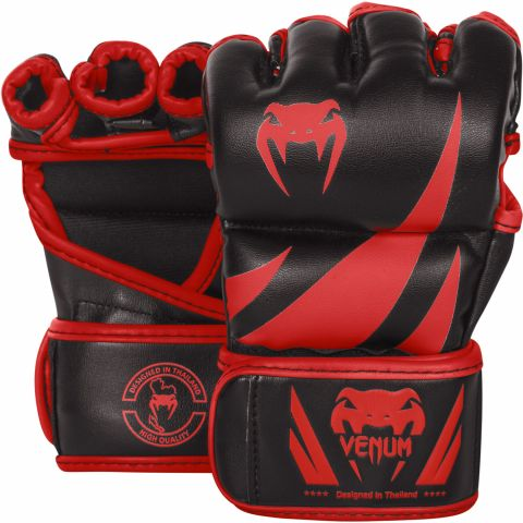 Venum Challenger MMA 手套 - 黑/红 - 专属