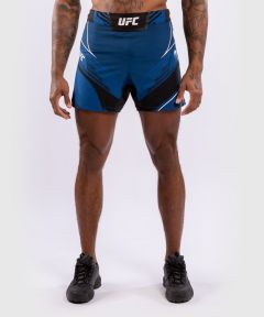UFC VENUM AUTHENTIC搏击之夜男装短裤-合身剪裁 - 蓝色